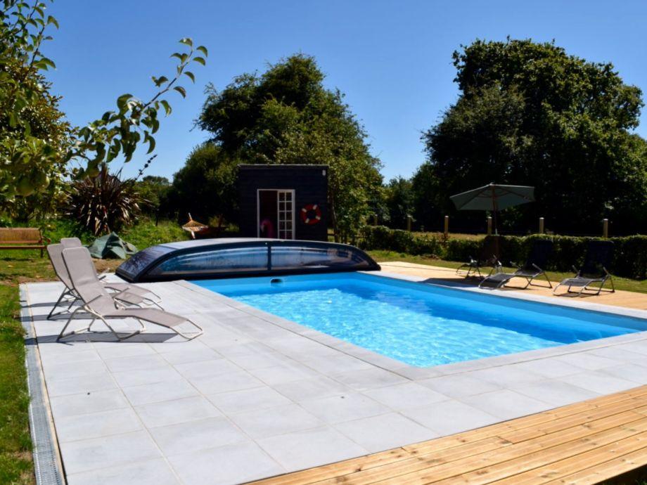 New heated pool