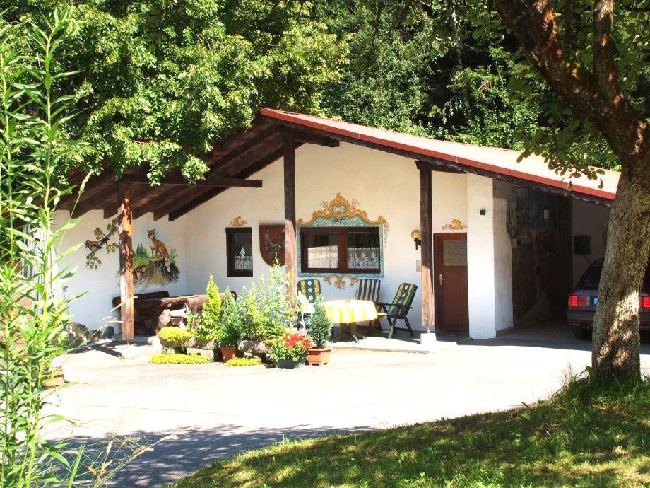 Das Ferienhaus mit Gartenmöbel