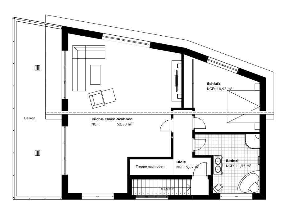 Badezimmer Grundriss Dachgeschoss : Badezimmer II – oberer Stock ...