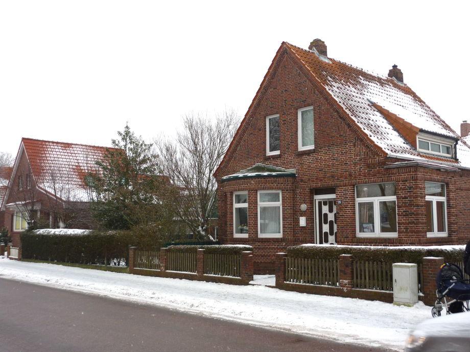 Ferienhaus Melles im Winter