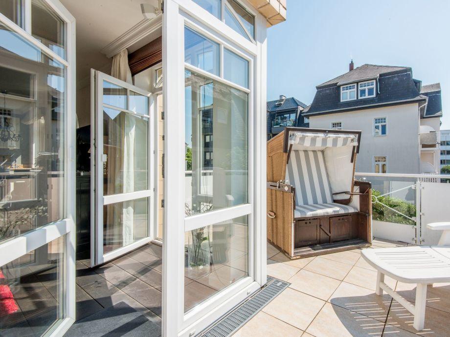 Ferienwohnung Sylt, Residenz Bismarck, Whg. 9, Balkon