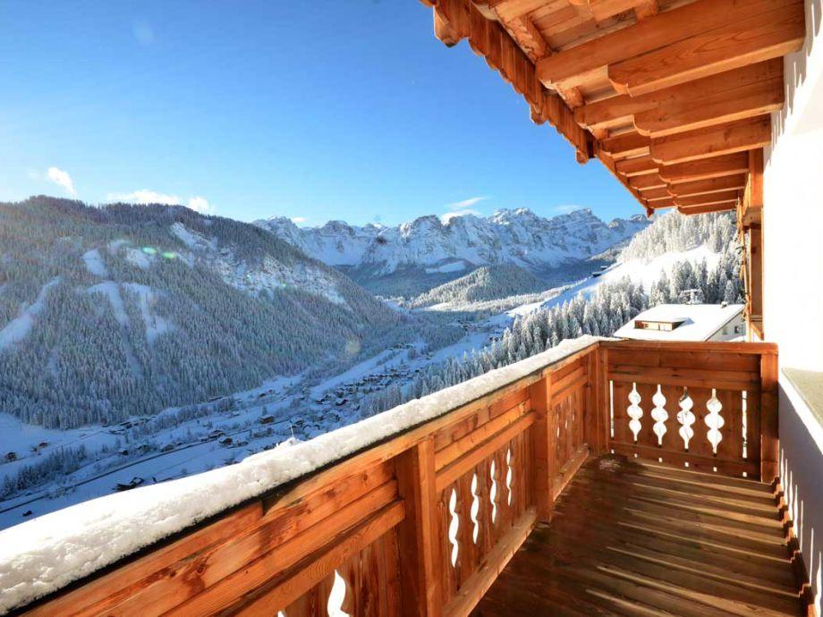 Winterlandschaft vom Balkon