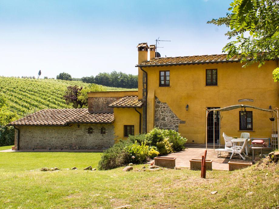 Die Casa Valinardi inmitten von Weinbergen