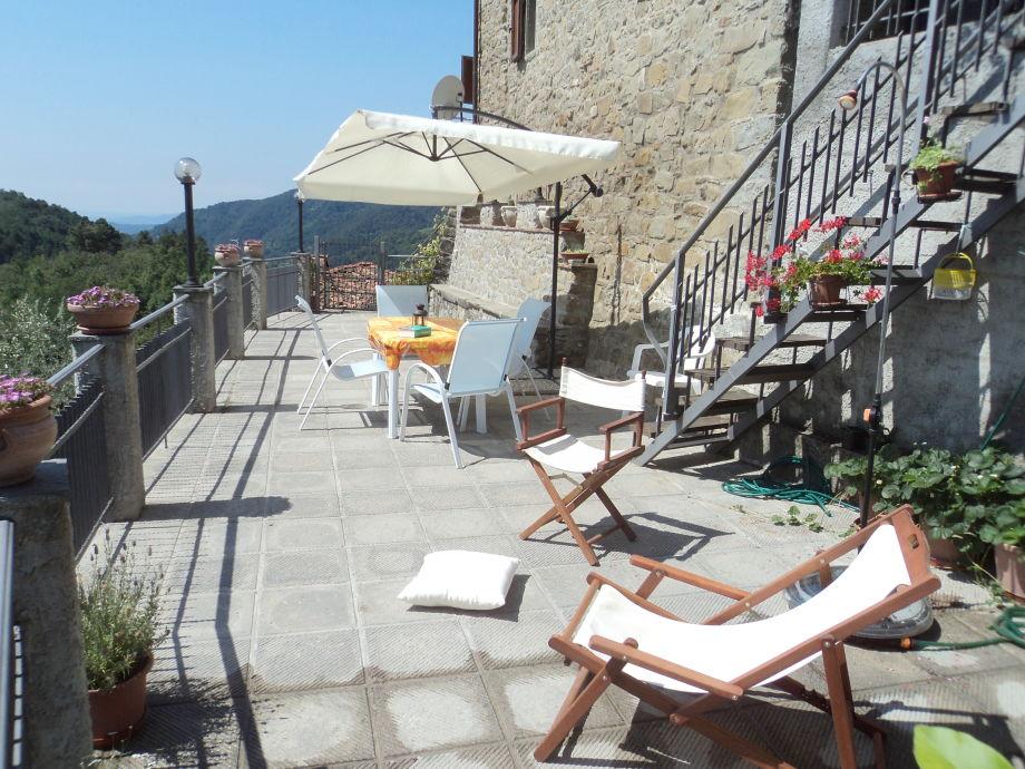 Die Terrasse der Casa i Balzi