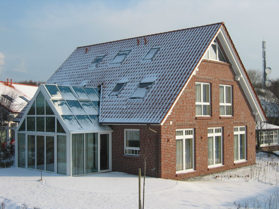 Haus Admiral im Winter