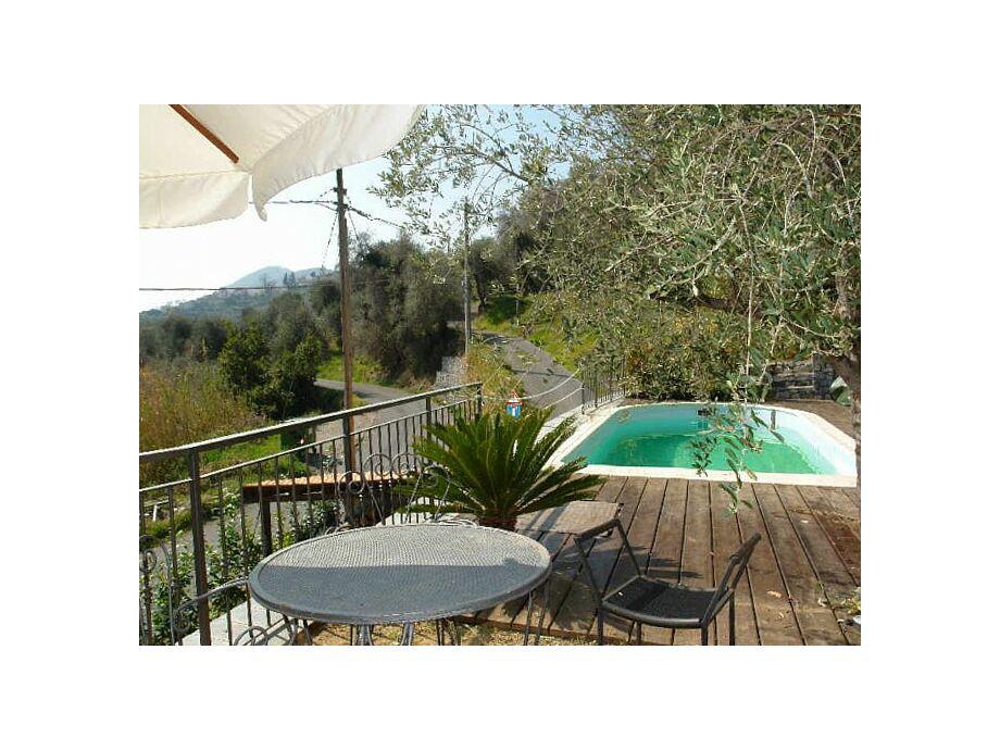 Terrasse mit kleinem Pool