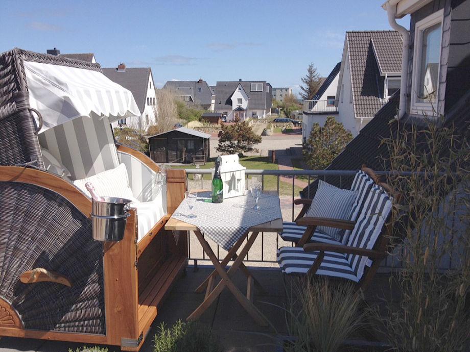 Der Strandkorb auf der Dachterrasse