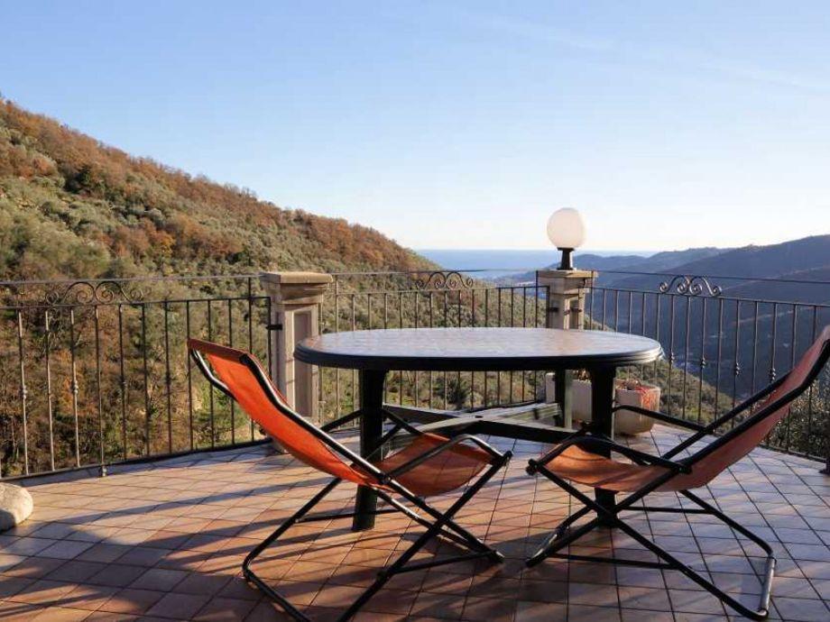 Außenaufnahme in der Villa Ronchi