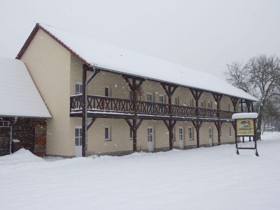 Im Winter, Spreewald Pension Spreeaue in Burg