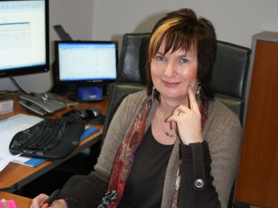 Your host Sabine Demarczyk