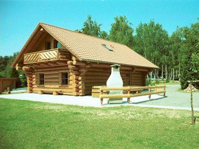 Blockstammhütte