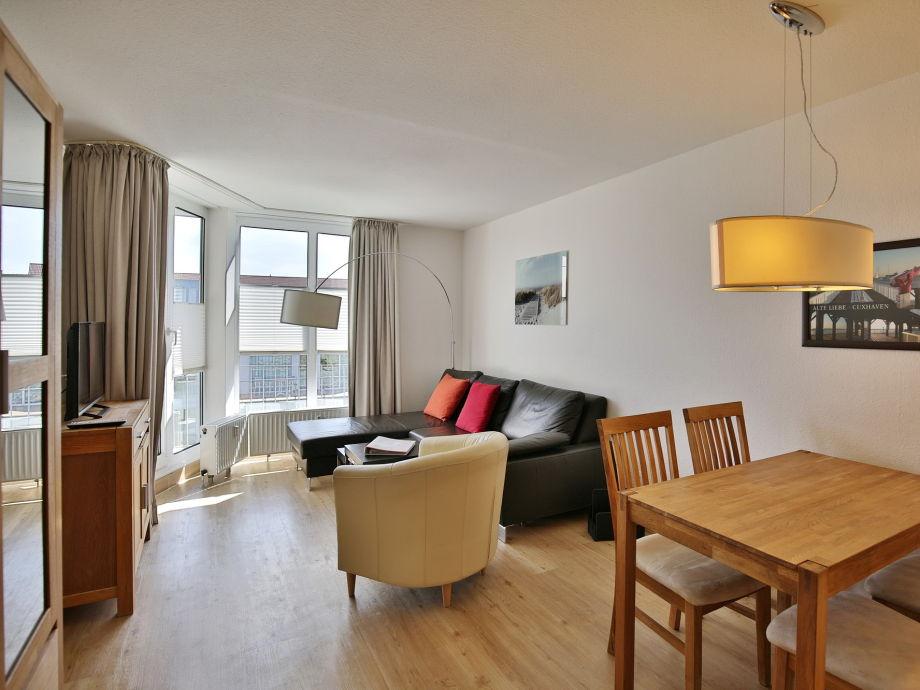 Wohnzimmer der Ferienwohnung 311 im Haus Hohe-Worth Cuxhaven