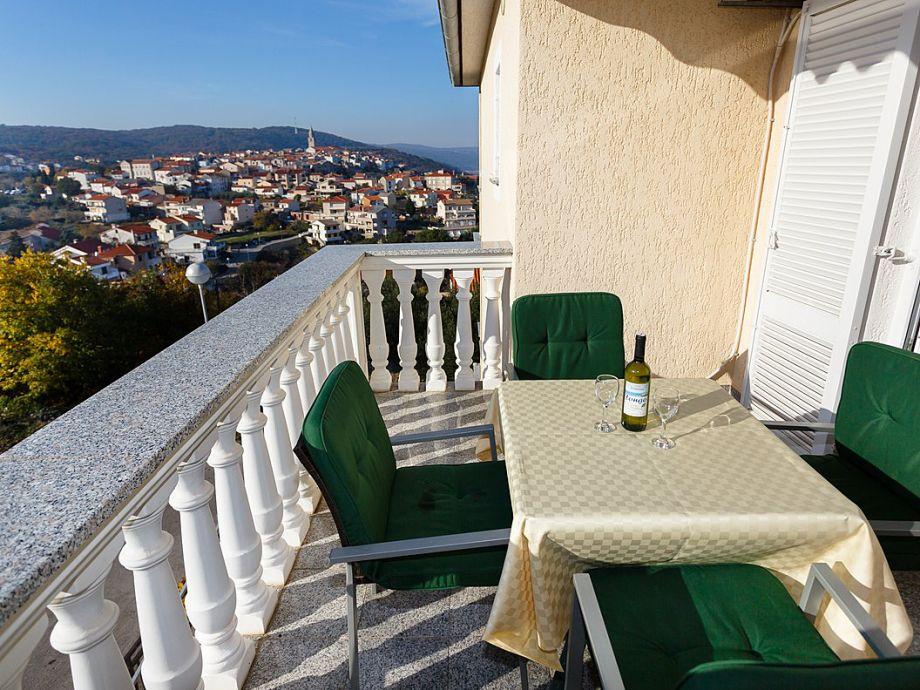 Balkon mit Blick auf die Altstadt