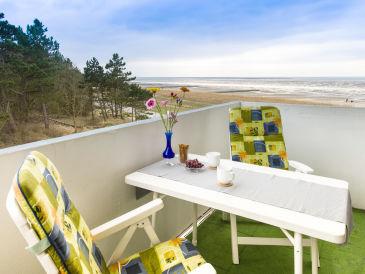 Ferienwohnung Meerblick und Strandkorb