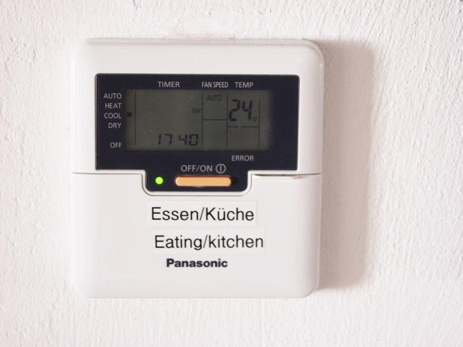 Wohlfühlklima im Haus garantiert: 24° (optional).