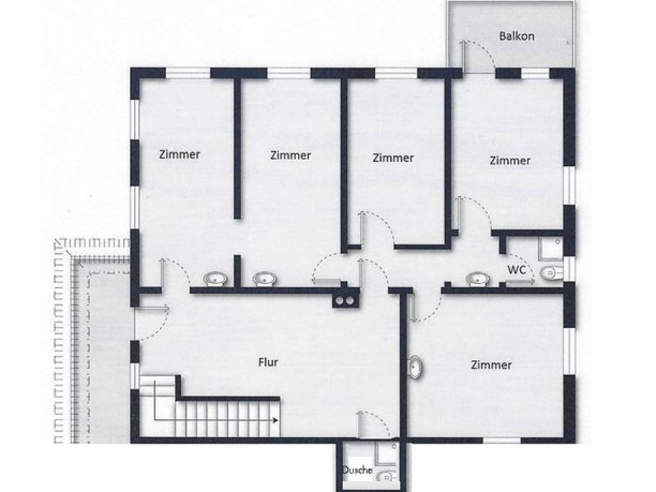 Stock   Schlafbereich, 2 Badezimmer