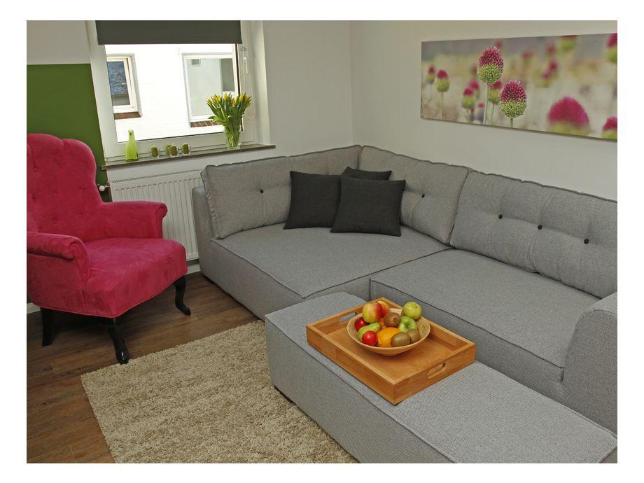 Schöner Wohnbereich mit direktem Zugang zur eigenen Terrasse