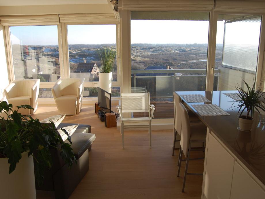 Wohnzimmer mit tollem Ausblick!
