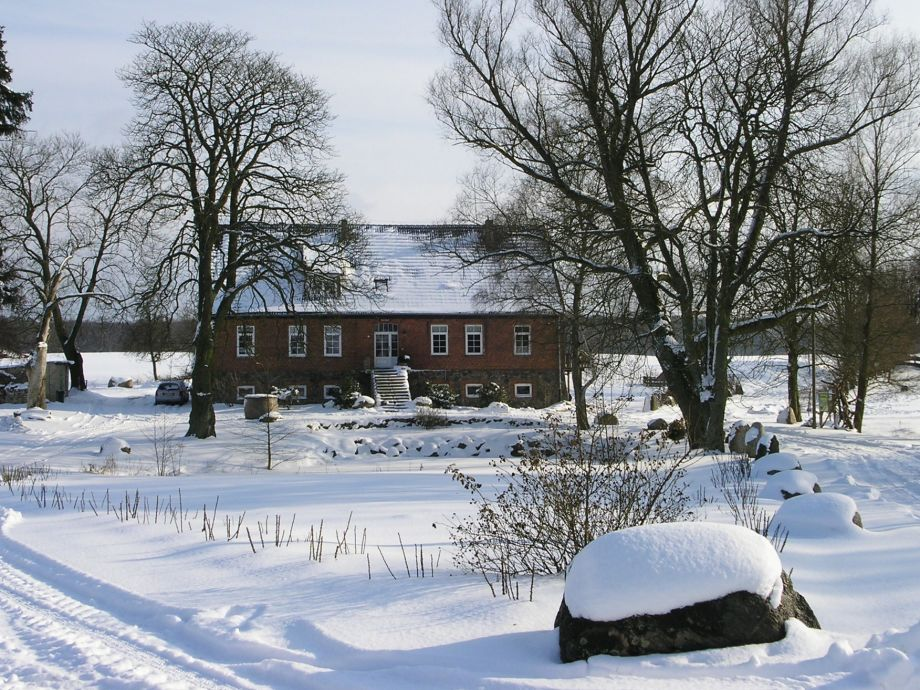 Herrenhaus im Winter