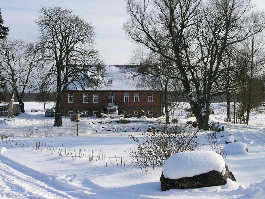 Herrenhaus im Winter