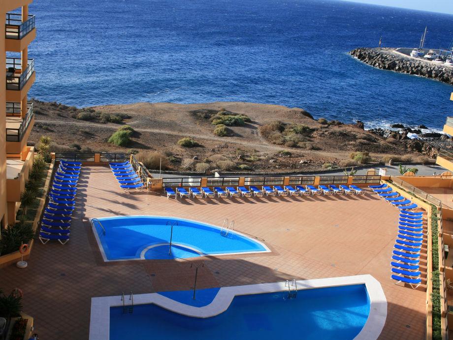 Pool und Atlantic Blick vom Balkon