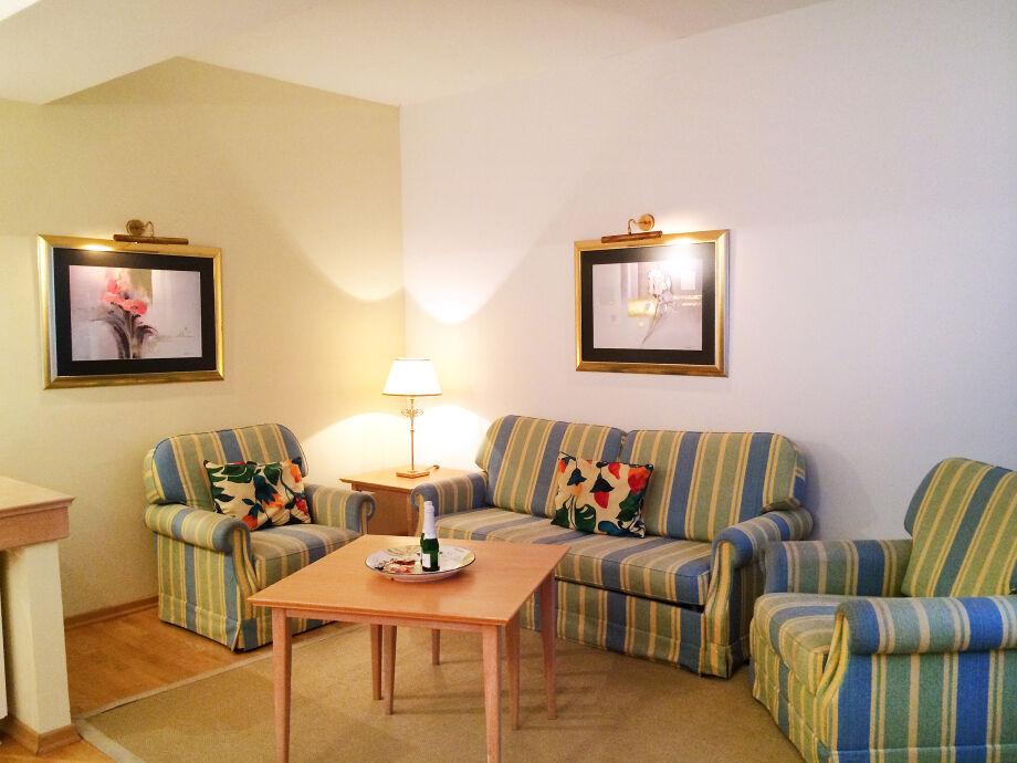 Gemütliches Wohnzimmer in der Ferienwohnung