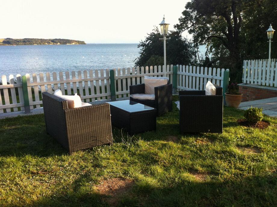 Entspannen Sie in dieser Sitzlounge direkt an der Ostsee!