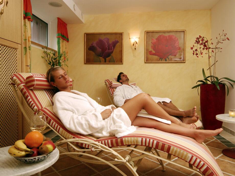 Entspannen Sie im Wellnessbereich im Haus Berlin auf Rügen.
