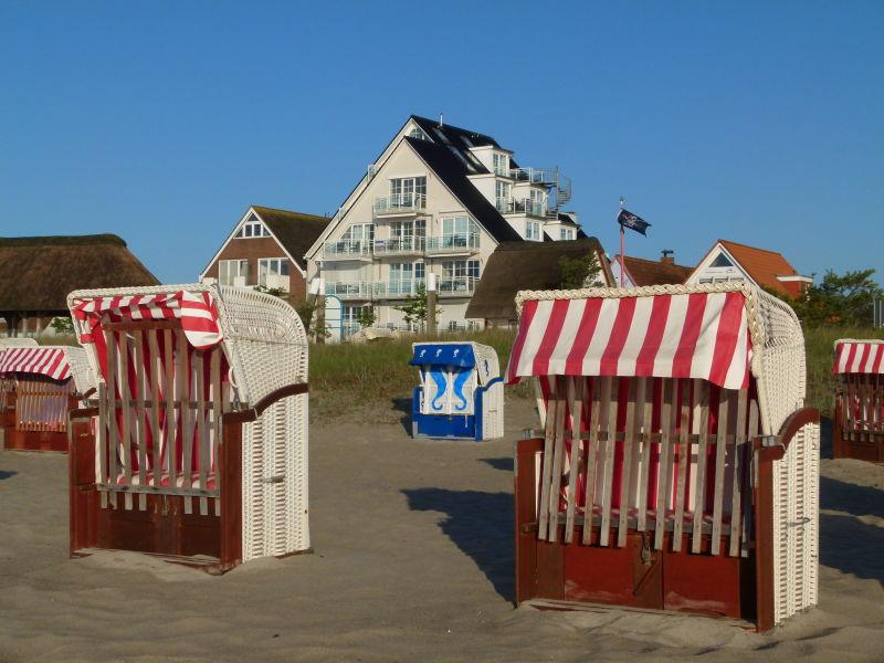Ferienwohnung Strandallee mit Ostseeblick  (inklusive Strandkorb)