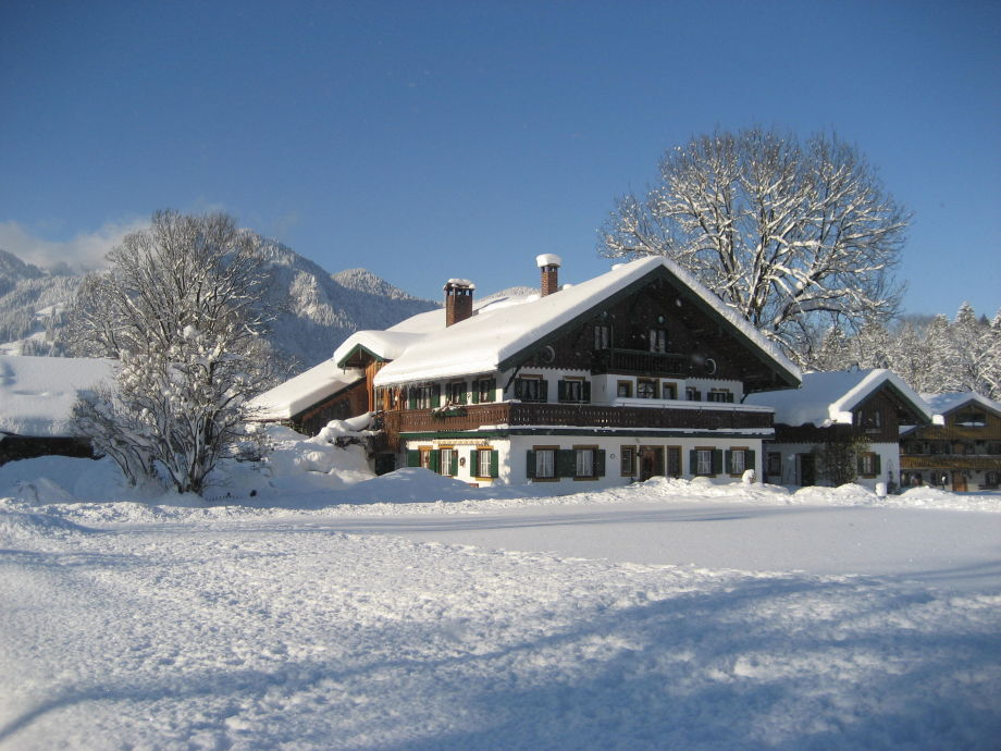 Unser Gästehaus im Winter
