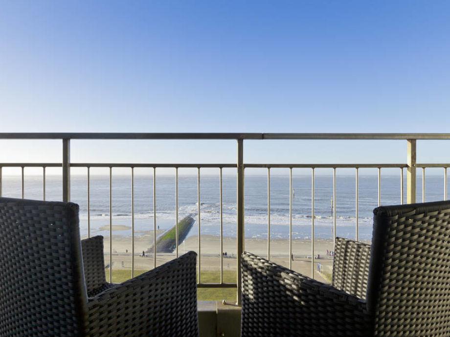 Der Balkon mit Meerblick
