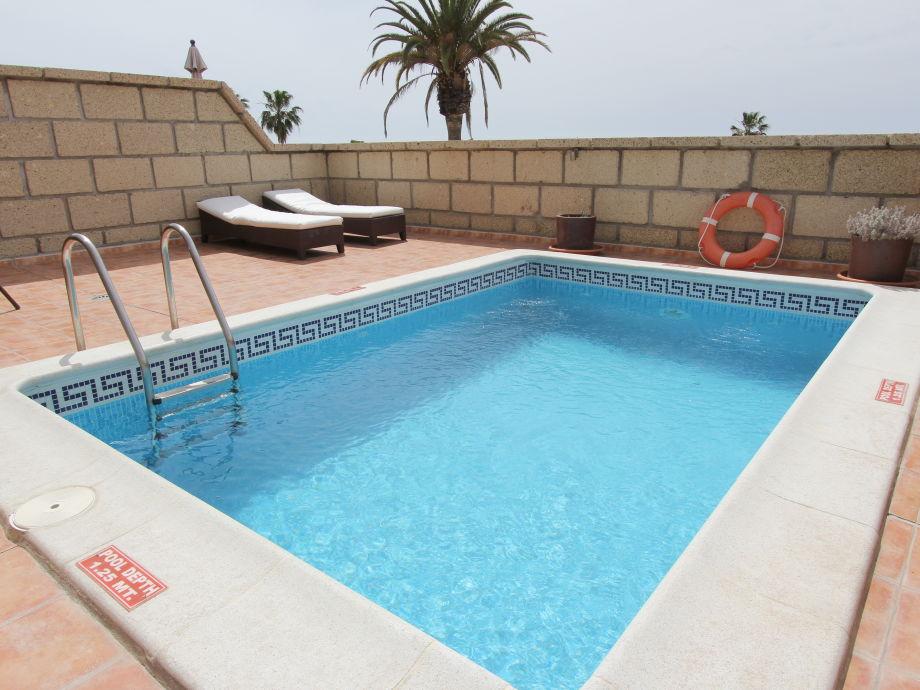 Der beheizte Pool