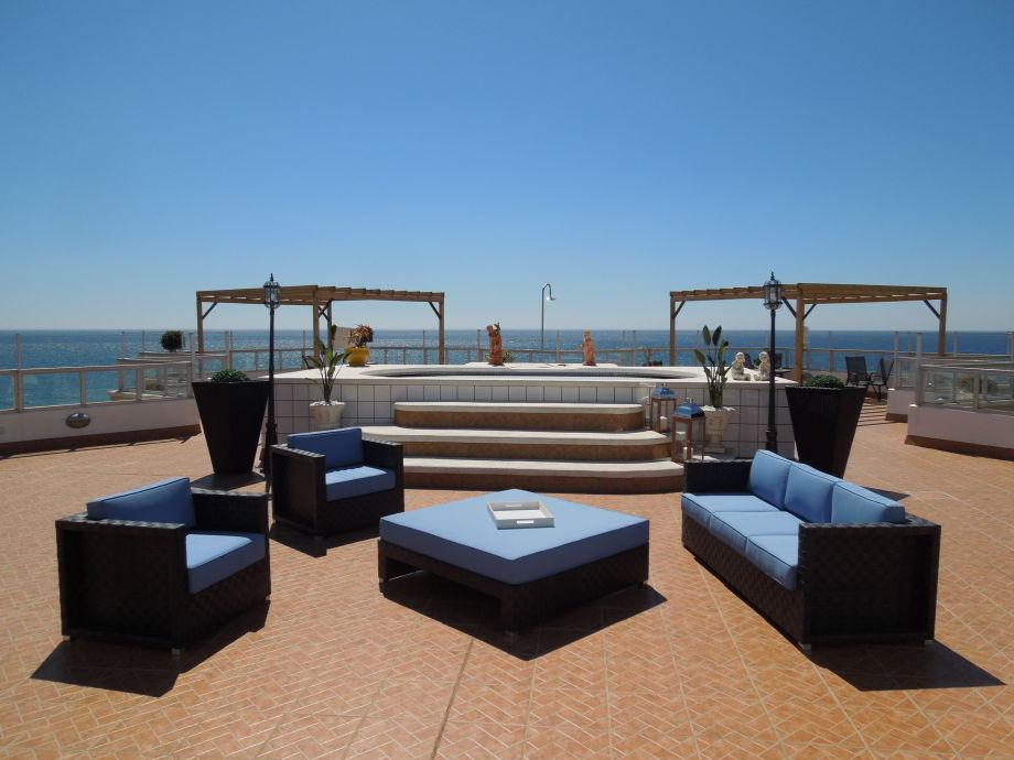 Herrliche Terrasse der Ferienwohnung