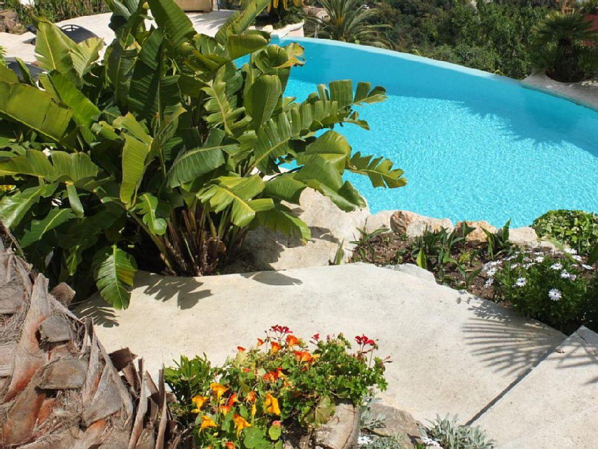 Mas des oliviers luxus pool villa mandelieu la napoule - Pool und garten ...