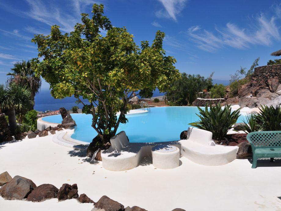 Der traumhafte Pool des Ferienhauses Casa Salvatore