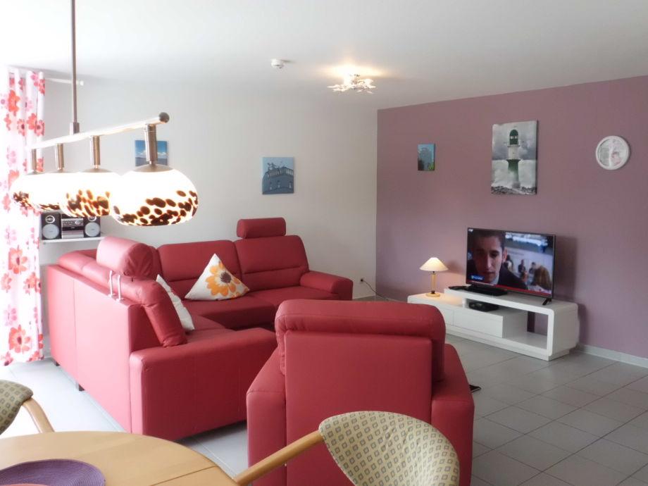 Wohnraum mit Flachbildfernseher