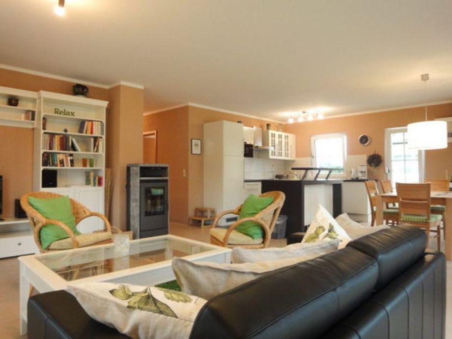 Der Wohnbereich mit Küche