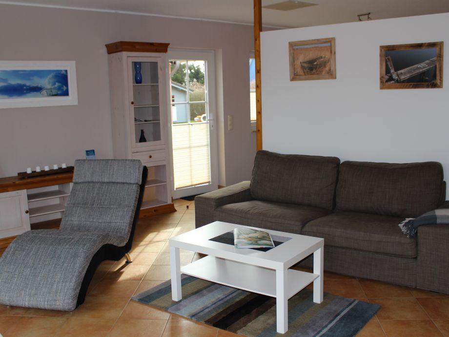 Gemütlicher Wohnbereich mit Relaxliege