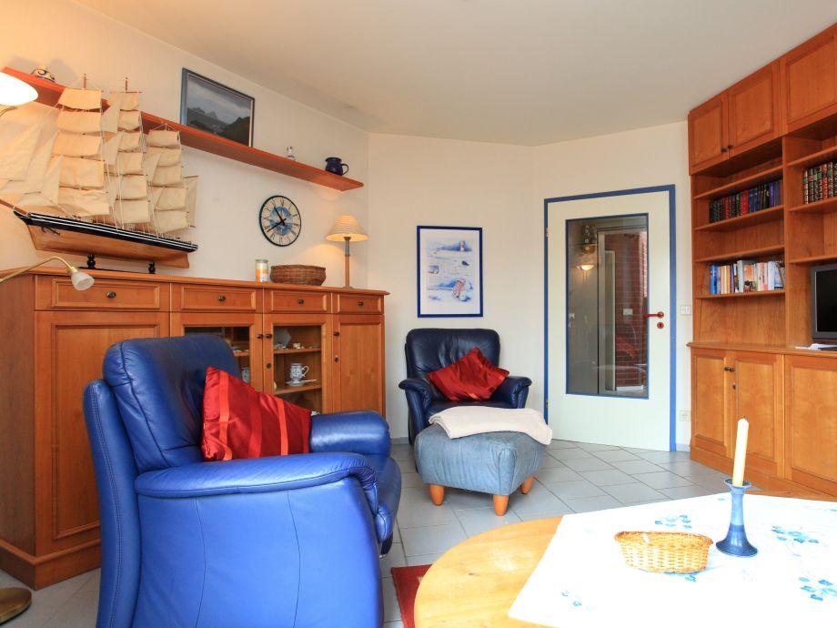 Ferienwohnung haus in den d nen 1 nordseeinsel borkum for Wohnzimmer eingerichtet