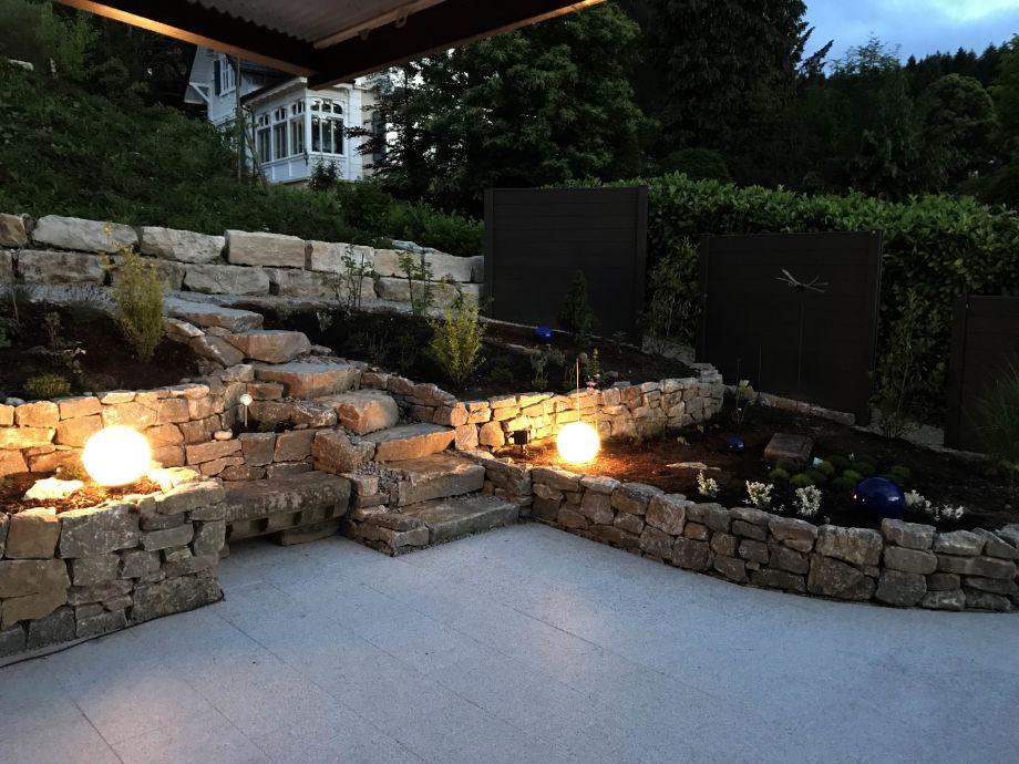Abendstimmung auf der neuen Terrasse