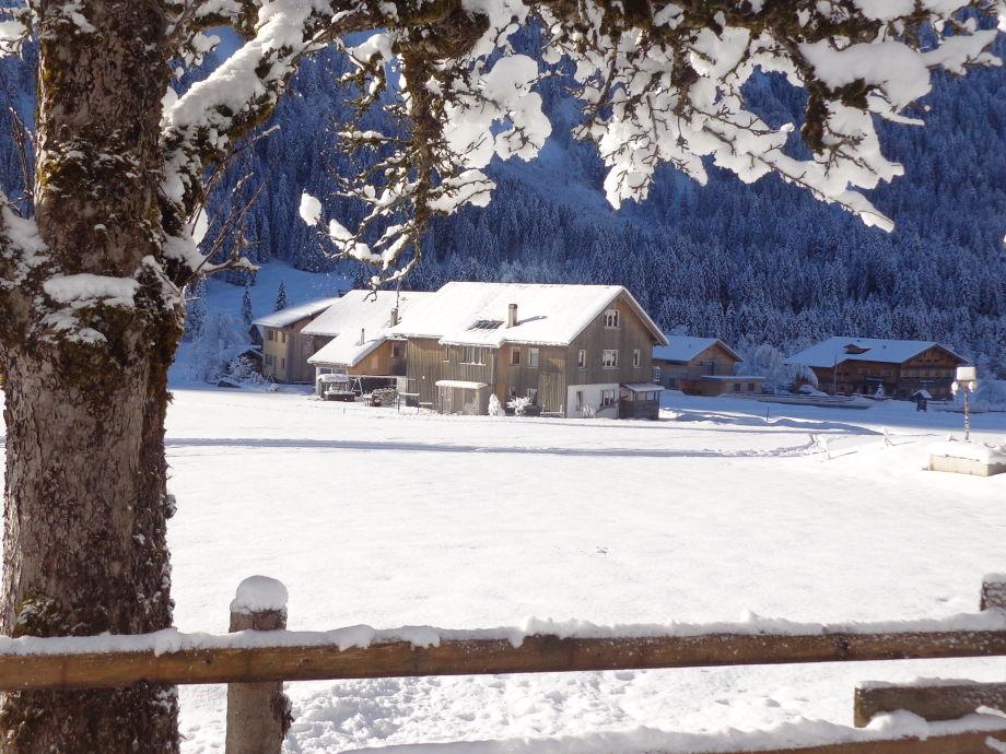 Winterlandschaft in Schoppernau
