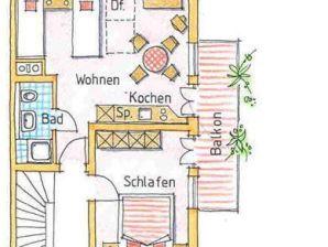 Ferienwohnung 2 im Dachgeschoss Haus Sonnenbergle