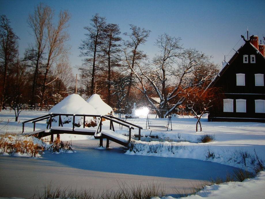 Traumhafte Ansicht unserer Ferienanlage im Winter