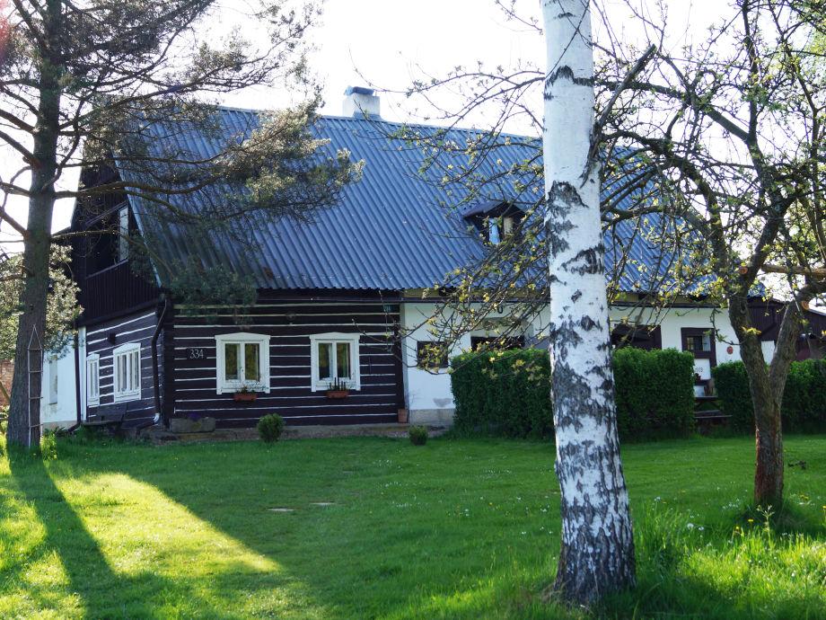 Ferienhaus Adršpach - Blick aufs Haus