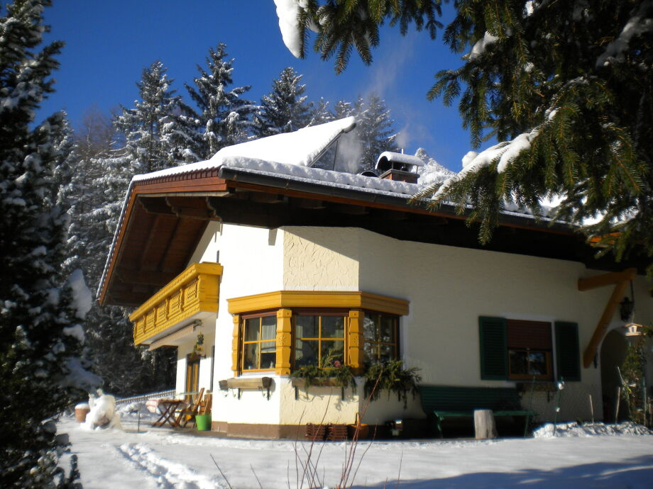 unser Haus am Skilift, Loipe Blick Hahnenkamm