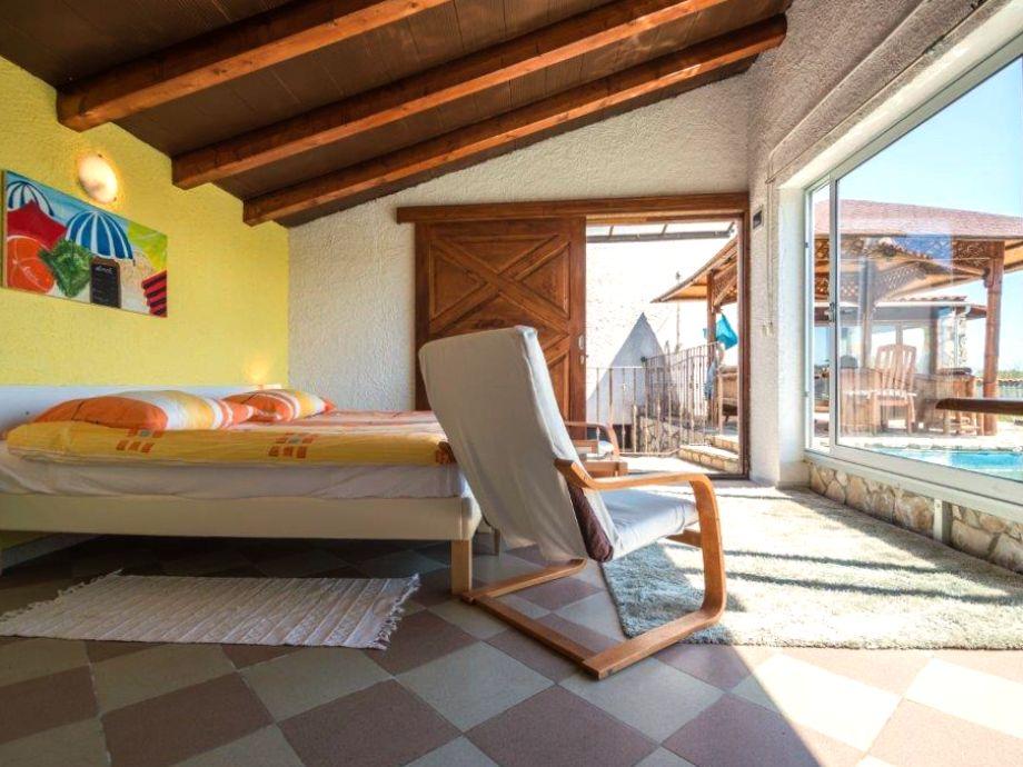 Bedroom on the pool