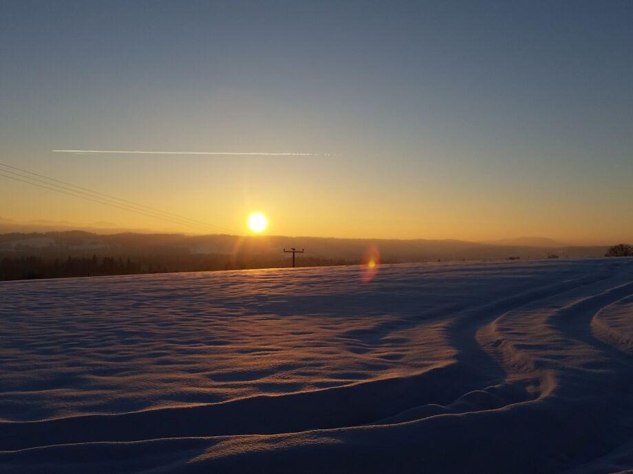 Sonnenuntergang am Berghof