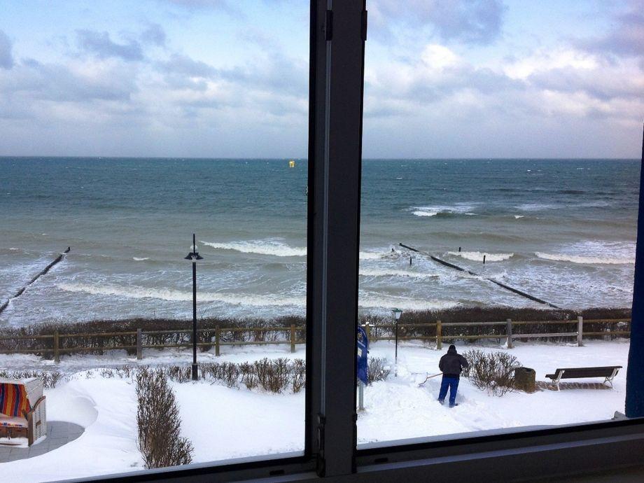 kleines DZ Seeseite: Winteraussicht