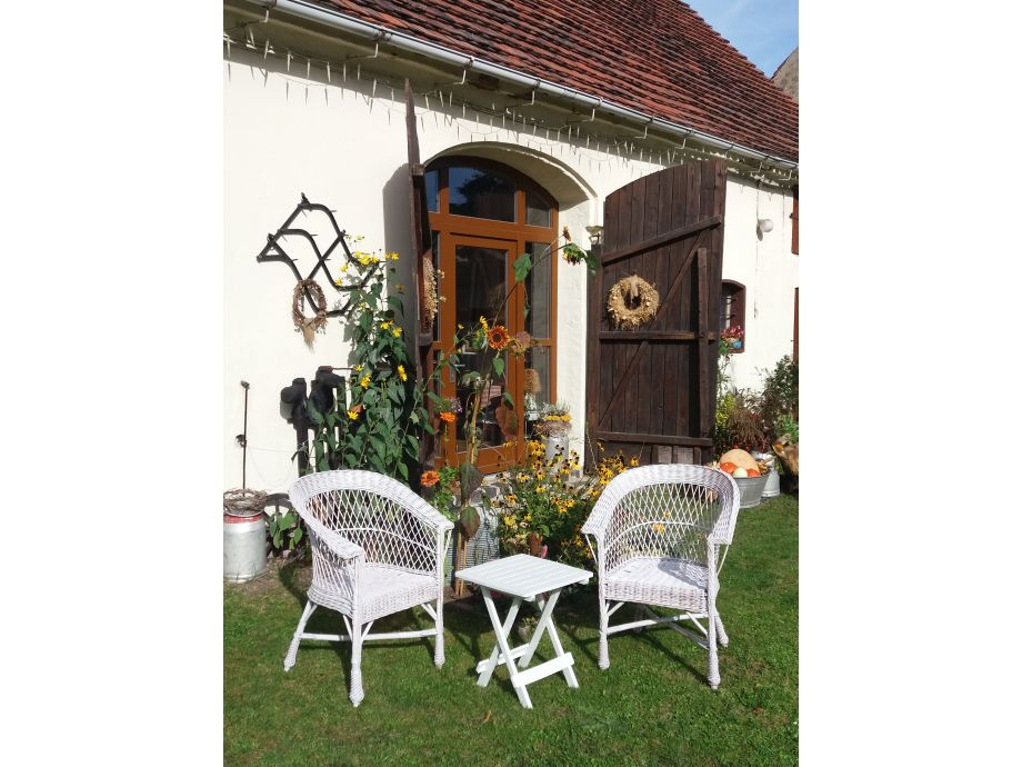 Sitzecke im Hof