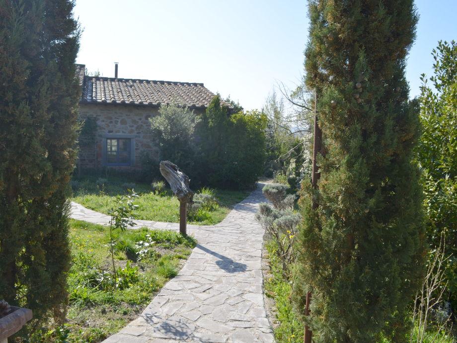 Villa La Rogaia - Weg zu La Grapo